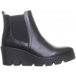 Black Wedge Chelsea  Ankle Boot