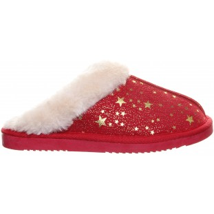 Red Star Sparkle Detail Mule Slipper